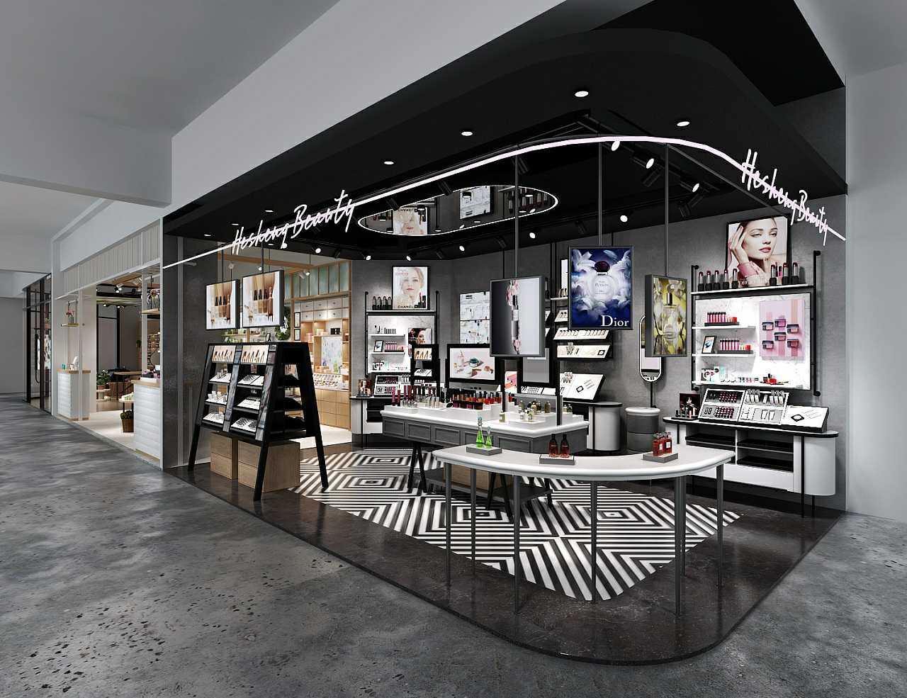 精品化妆品展柜货架商品在进行陈列时有哪些技巧!