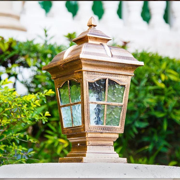 西安庭院柱头灯厂家