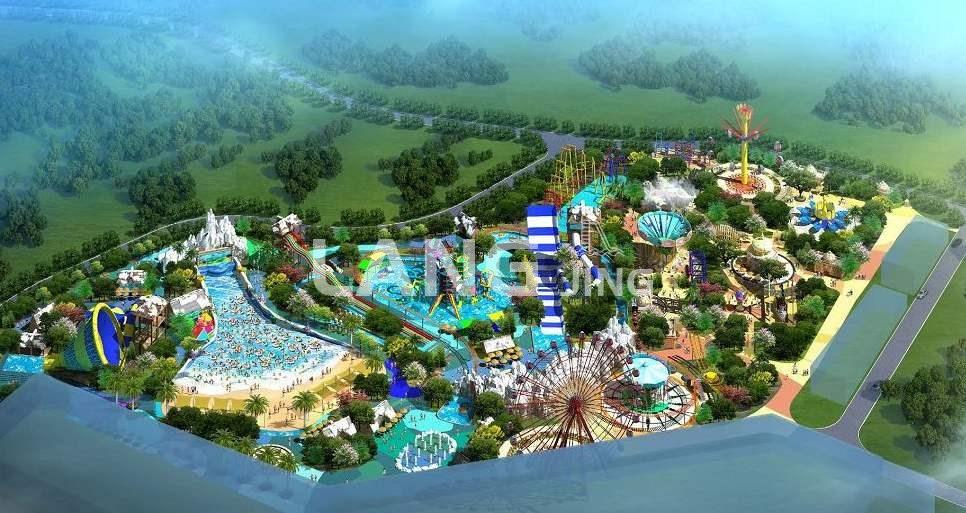 水上游乐设施总体的布局设计