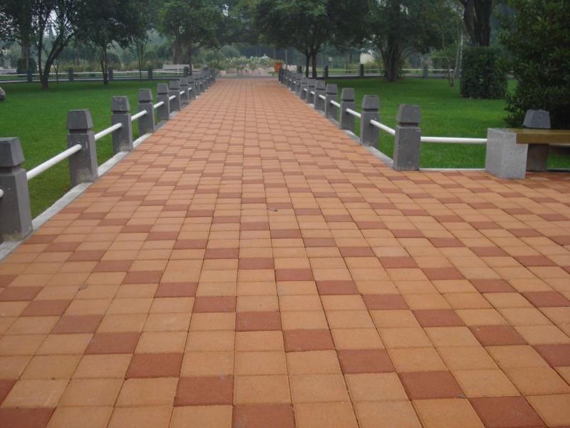 西安透水砖施工案例