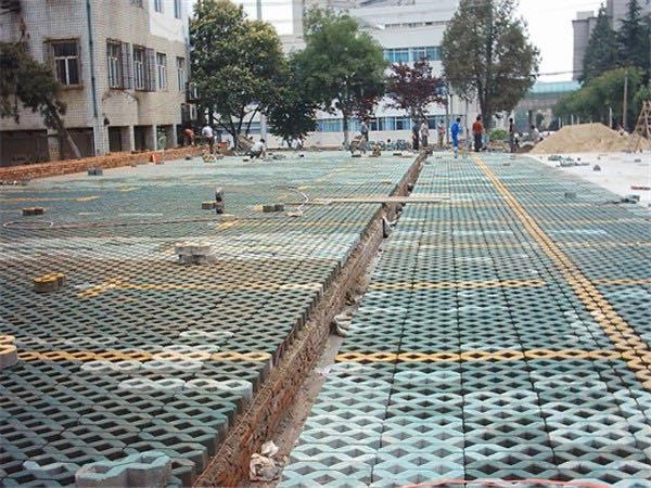 西安草坪砖施工案例