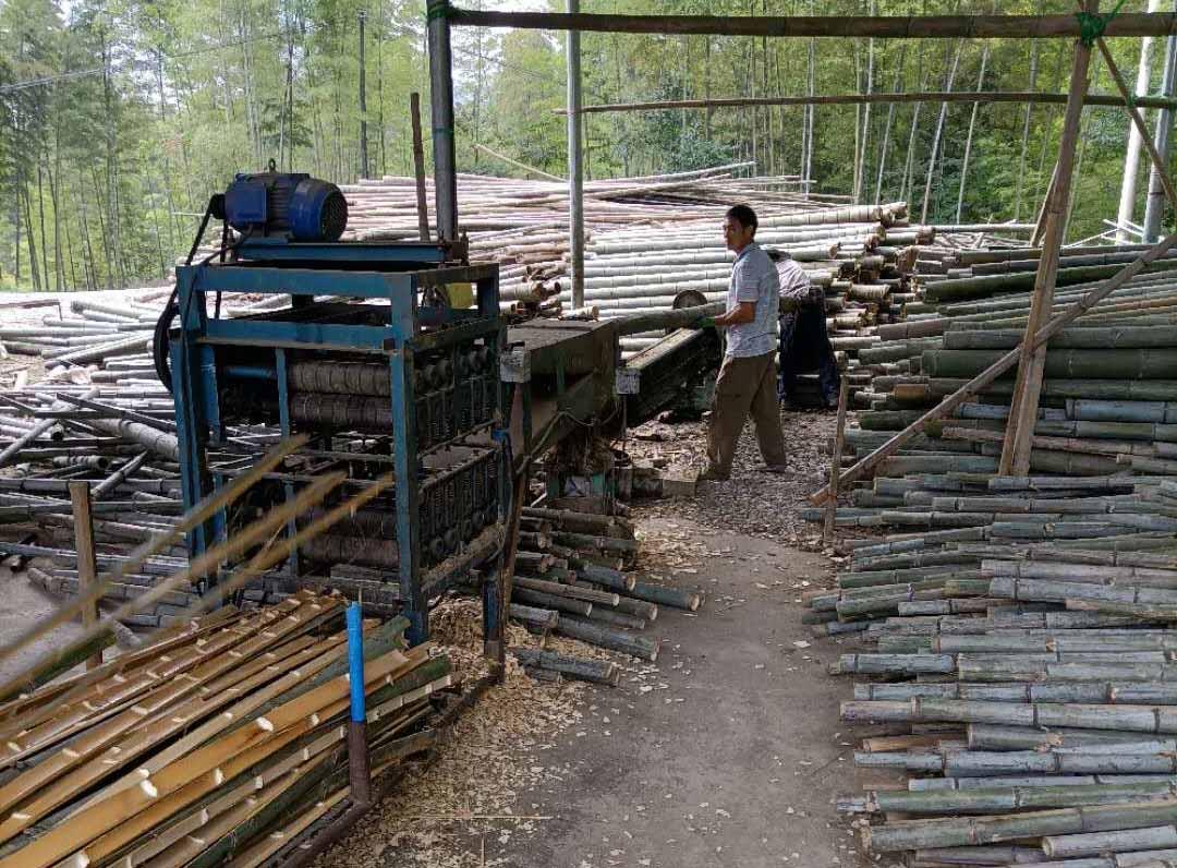 竹跳板加工区域