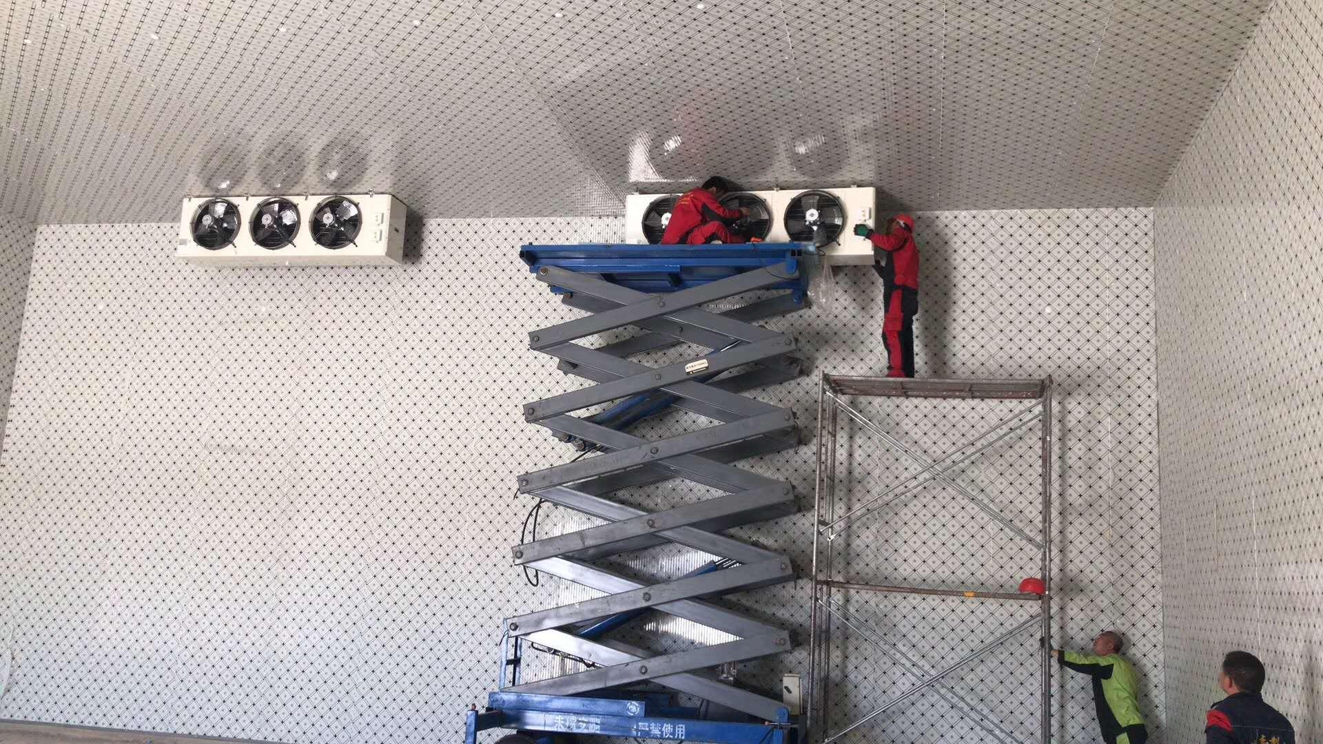 冷库机组散热器安装