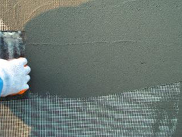 双华建材和某工厂合作的抹灰砂浆效果图片