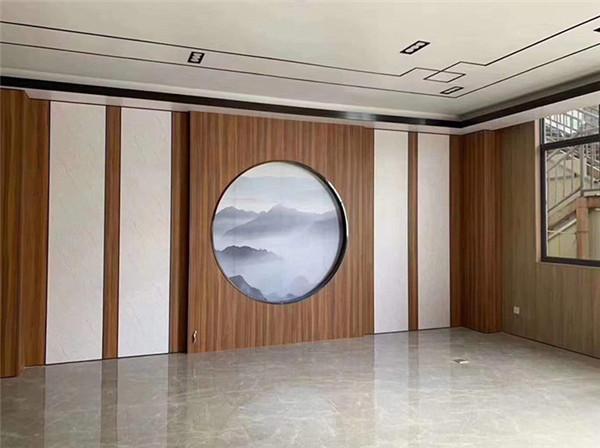 银川家装竹木纤维护墙板安装效果