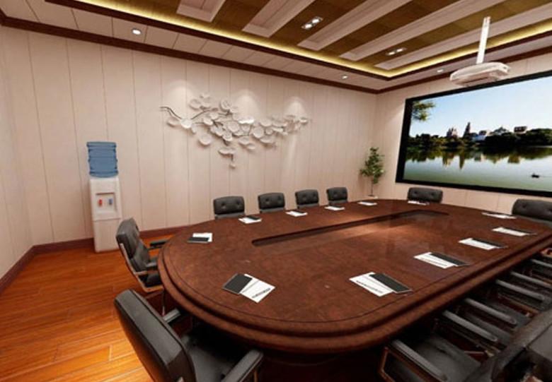 某公司会议室石塑墙板安装图