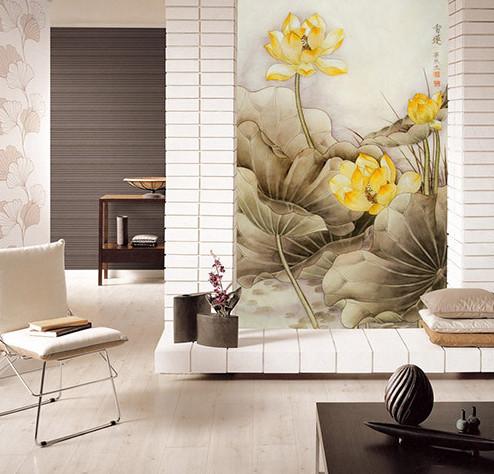 宁夏银川某小区张先生家背景墙纤维集成墙板安装效果