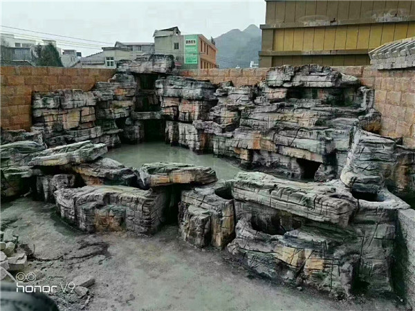 四川塑石假山设计