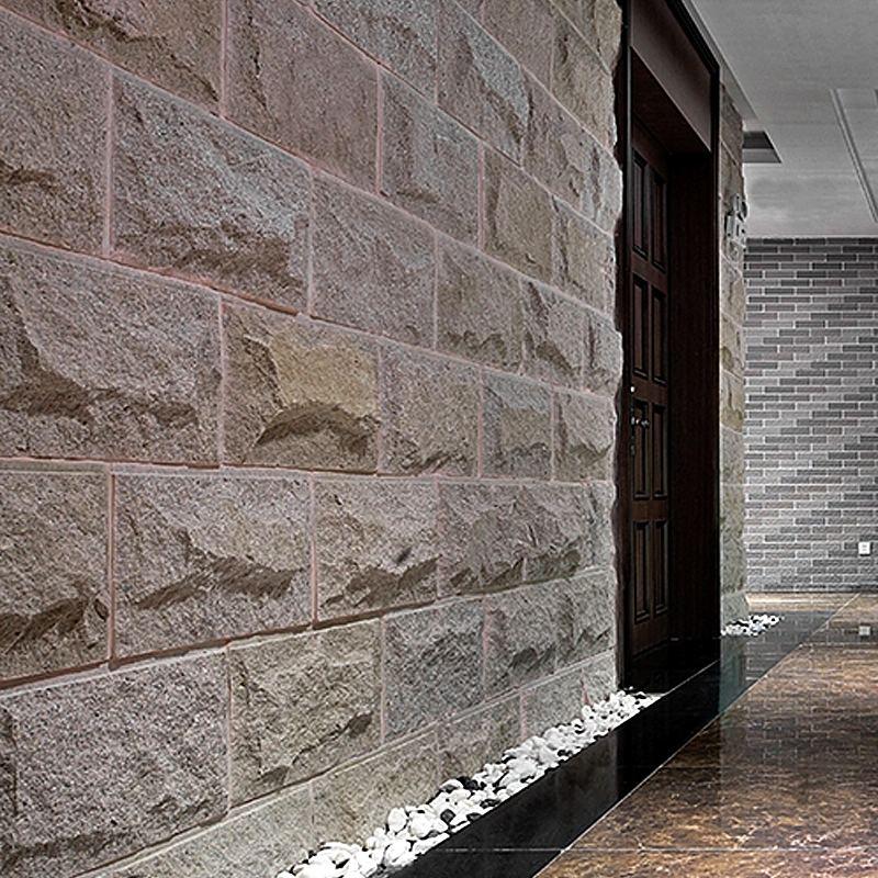 某某小区住户使用弘鑫园林石材南阳文化石档次瞬间提高