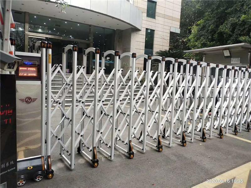 四川省电力行业协会电动伸缩门安装完成交付使用