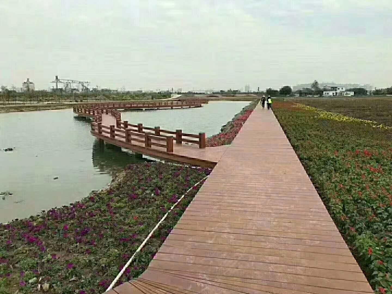 四川巴中碳化木木栈道工程案例
