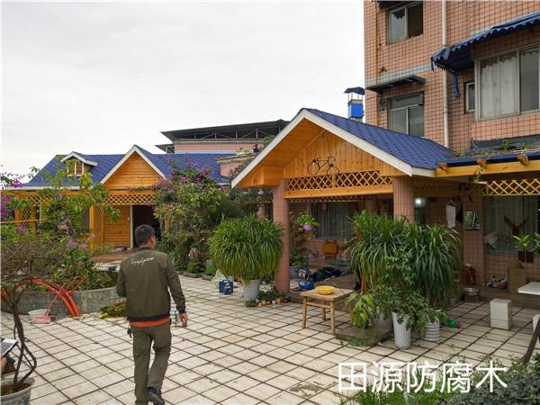 四川防腐木木屋工程案例