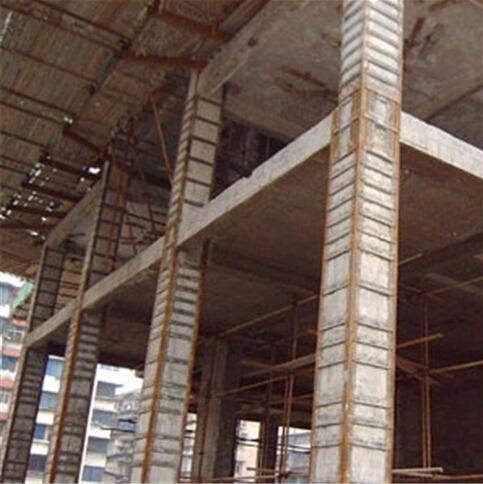 框架柱粘钢加固