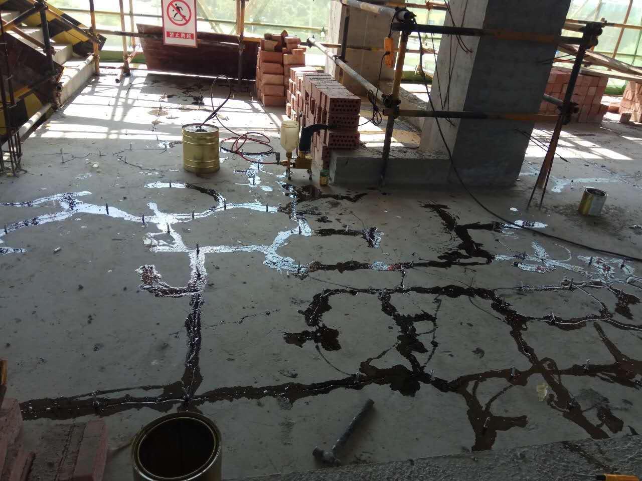 眉山华西产业园楼板裂缝灌注