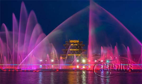 大型漂浮音樂噴泉案例欣賞