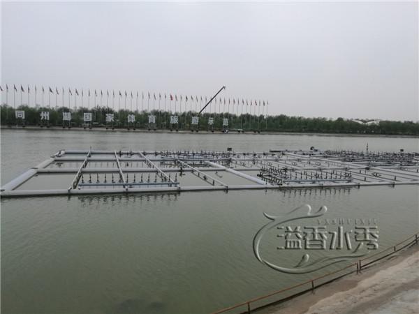 河南激光水秀施工场景
