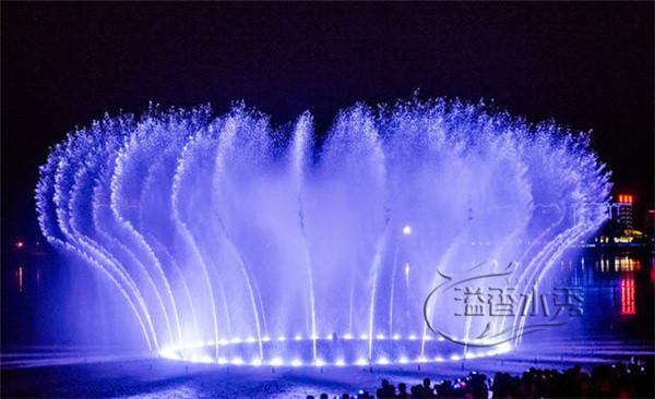 大型升降漂浮音乐喷泉