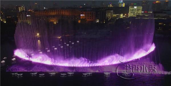 黄河宾馆建设的喷泉工程