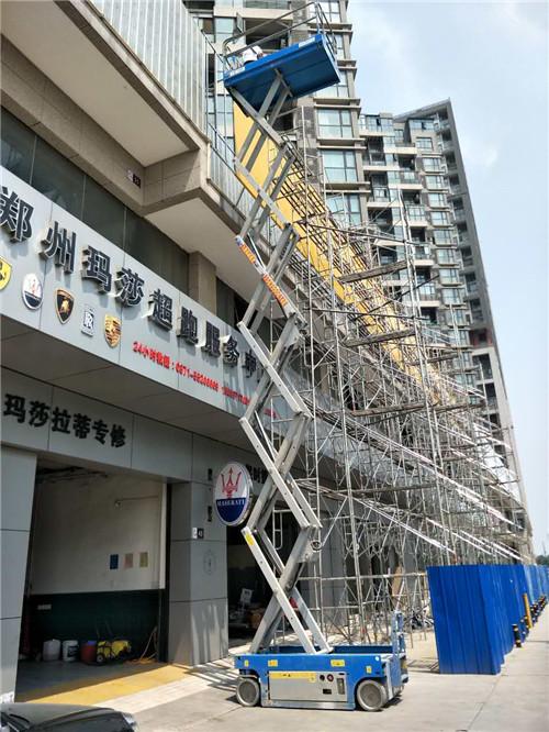 河南自行式升降平台工程案例