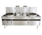 成都不锈钢厨房设备-双炒双吊灶