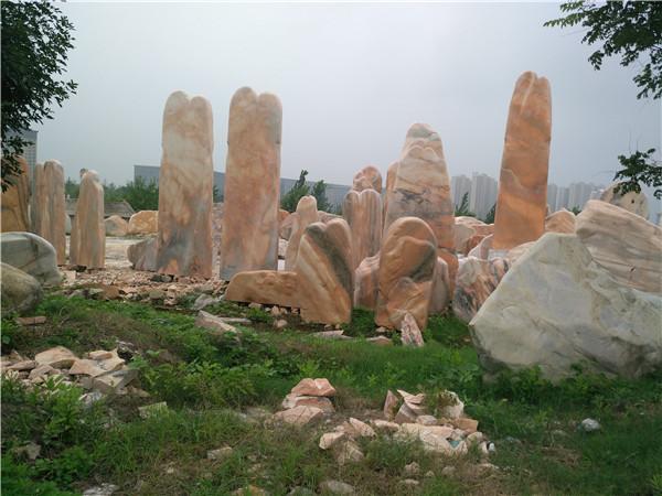 河南晚霞红景观石基地