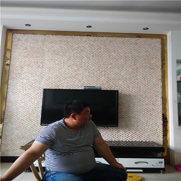 文化砖电视背景墙图片  装修显出美观、厚扑、品味深遂的韵味