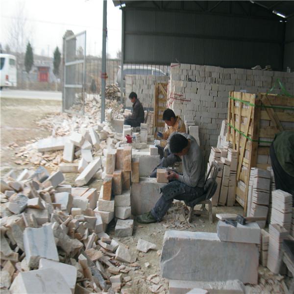 石材仿古外墙砖工艺  手工斧凿而成