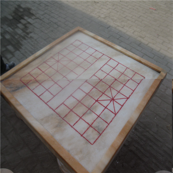 河南自然石桌石凳 棋盘方桌批发  可混批