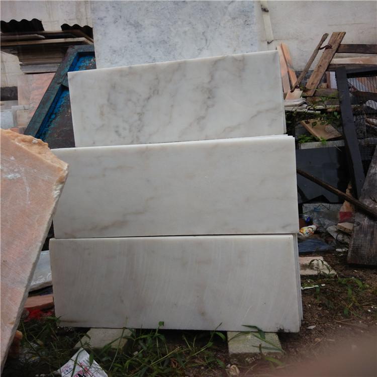 雪花白大理石36板 定尺板供应