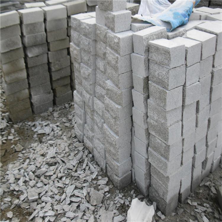 芝麻灰花岗岩路测石 块路石厂家供应