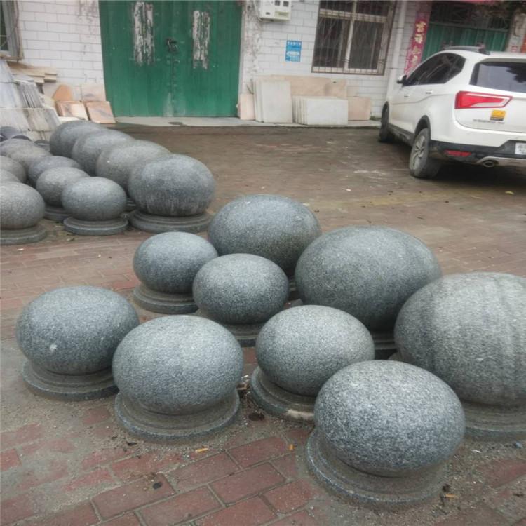 石球路障 花岗岩圆球 挡车球一个多少