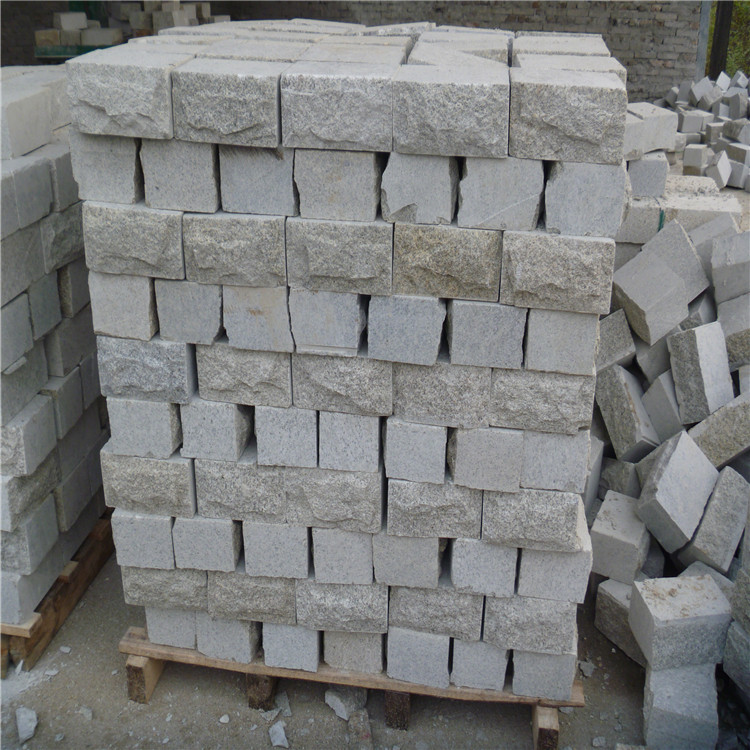 河南芝麻灰花岗岩文化石 铺路石 轮胎实验石