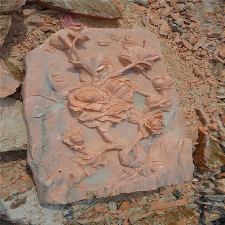 河南晚霞红大理石园林雕塑.浮雕批发