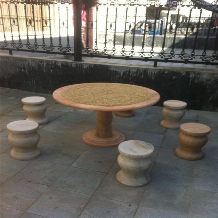 您知道石桌石凳 石椅 休闲桌有哪些颜色和规格吗?