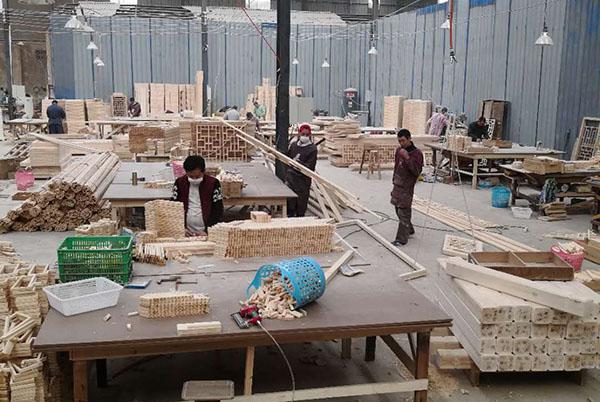 成都仿古栏杆生产厂区展示