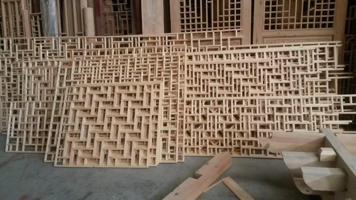 新中式实木屏风