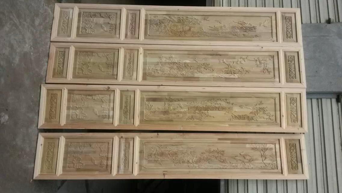 折叠式实木屏风
