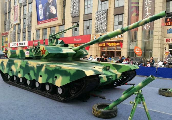 广场军事模型