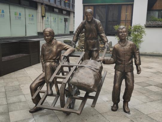 商业街铜雕塑