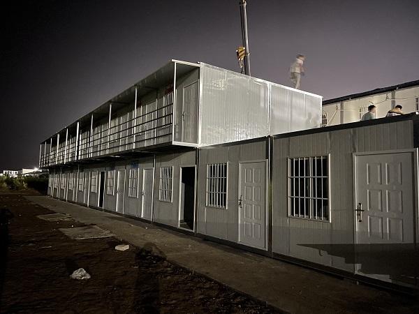 我司在西安交大创新港承接住人集装箱项目