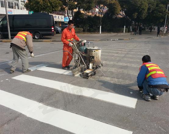 包头道路划线施工