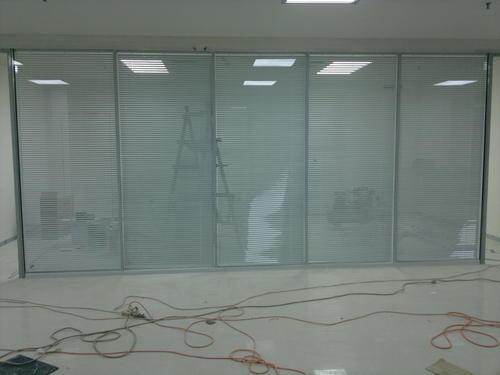 双玻璃百叶隔断