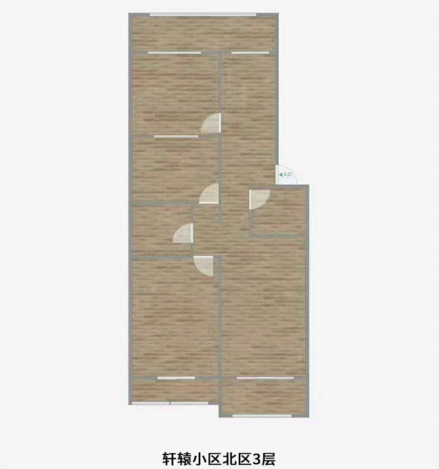 轩辕北区好楼层三室两厅两卫三居室出售
