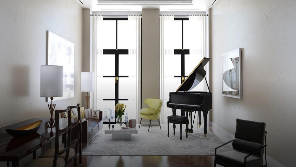 M 型号,三角钢琴