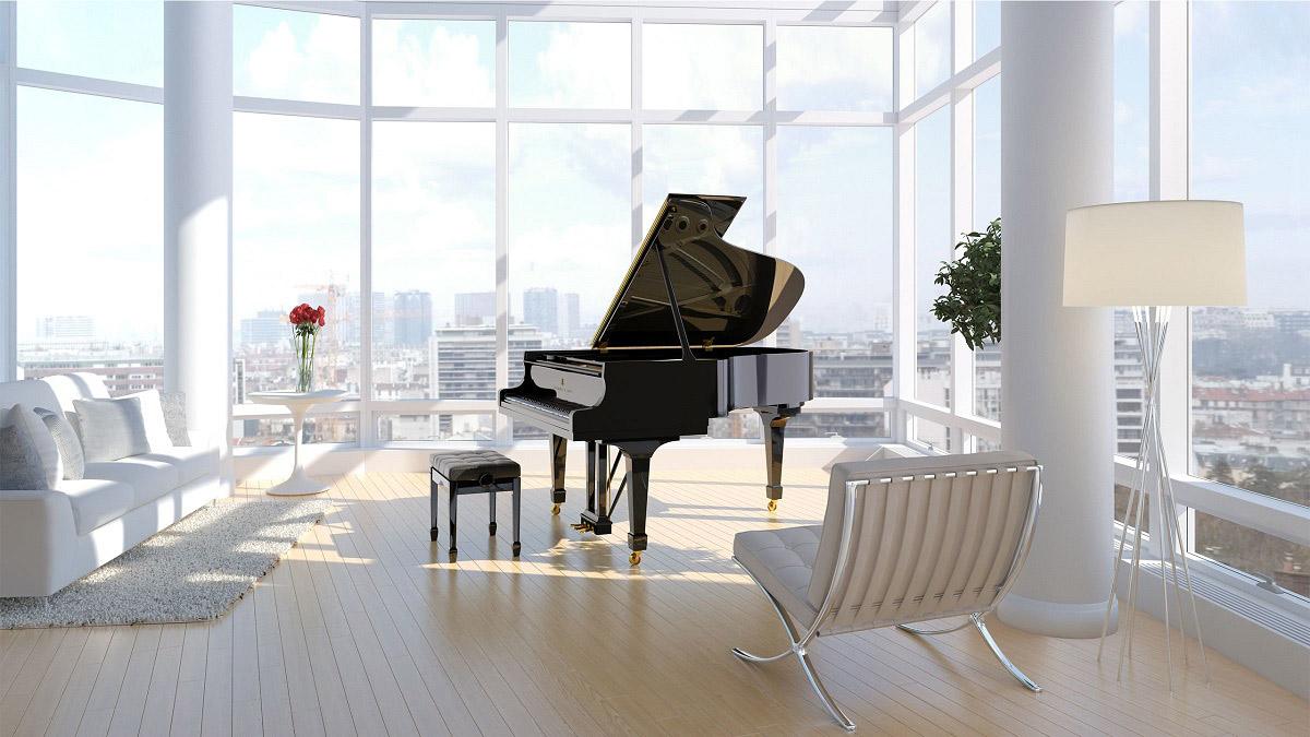 A 型号,三角钢琴