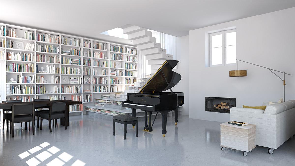 O 型号,三角钢琴