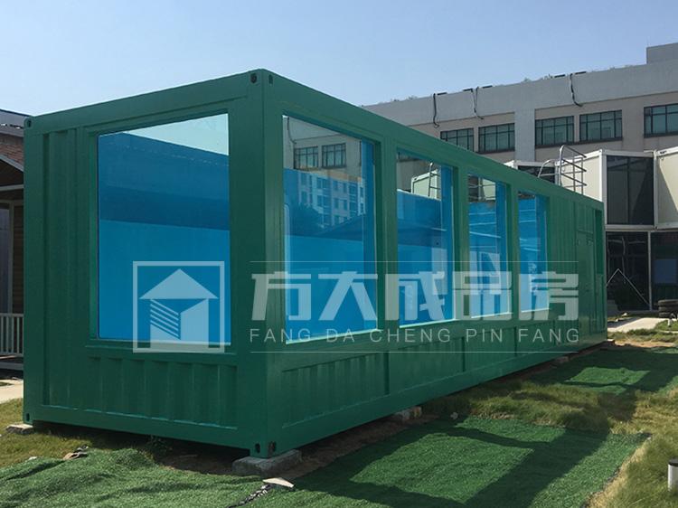 乐山蓝色玻璃集装箱泳池定制