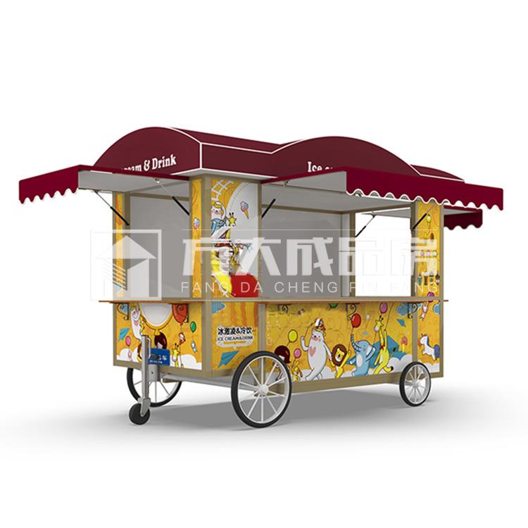 眉山小型移动冰淇淋冷饮售货餐车厂家价格