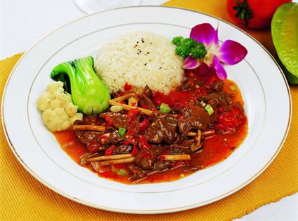 剁椒牛肉米饭套餐
