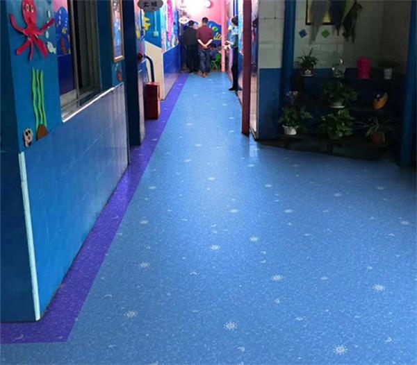 西安塑胶地板在幼儿园里成功施工的案例